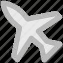 aeroplane, air travel, aircraft, airplane, jet, plane, travelling
