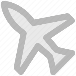 aeroplane, air travel, aircraft, airplane, jet, plane, travelling icon