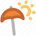 canopy, hot day, parasol, sunny day, sunshade, umbrella icon