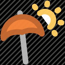 canopy, hot day, parasol, sunny day, sunshade, umbrella icon
