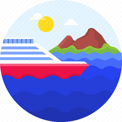 Beach, ocean, ship, summer, travel, vacation icon - Download on Iconfinder