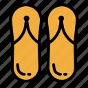 flip, flipflop, flops, footwear, shoes, slippers, summer icon