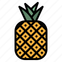 food, fruit, healthy, natural, pineapple, summer icon