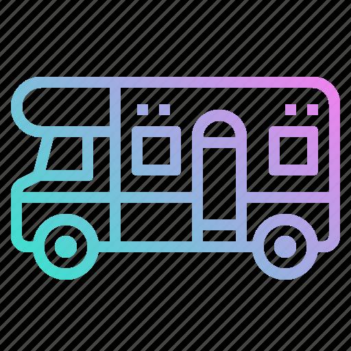 camping, caravan, summer, trailer, transport, vehicle icon