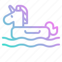 float, horse, sea, summer, unicorn, water icon