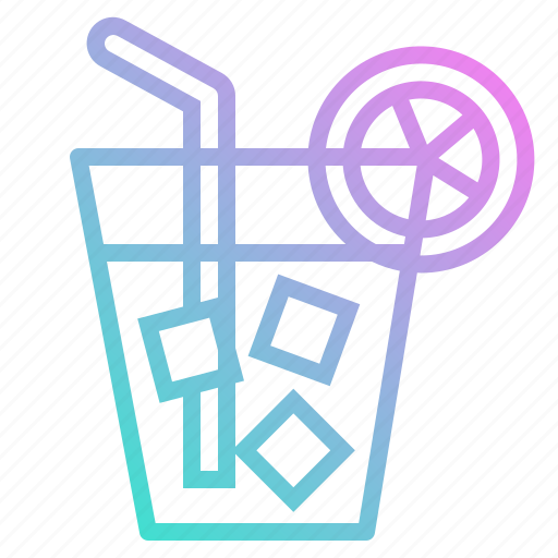 drink, fresh, healthy, juice, lemon, summer, tea icon