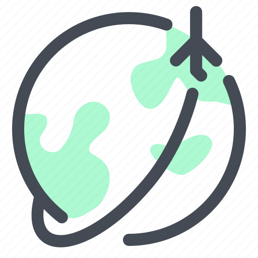 air, earth, fly, planet, vacation, voyage icon