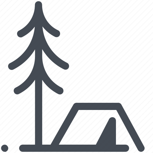 camp, camping, christmas tree, forest, hiking, nature, tree icon
