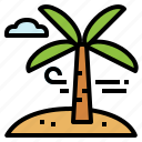 landscape, palm, summertime, tree, trip icon