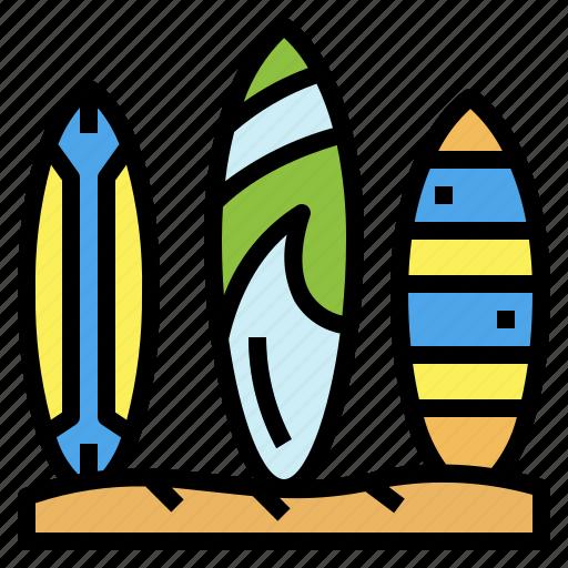 beach, sports, summertime, surfboard icon