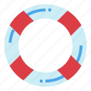 floating, lifebuoy, lifeguard, security icon