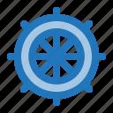 rudder, sailor, ship, summer, wheel icon