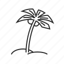 holiday, nature, palm, summer, travel, tree icon