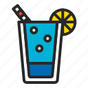 alcohol, beverage, cocktail, drink, juice, summer, tea icon