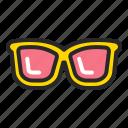 accessories, beach, glasses, summer, sun, sunglasses icon