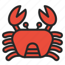 animals, beach, crab, ocean, sea, summer icon