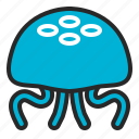 animals, beach, jellyfish, ocean, sea, summer icon