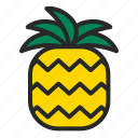 beach, food, fruit, pineapple, summer icon
