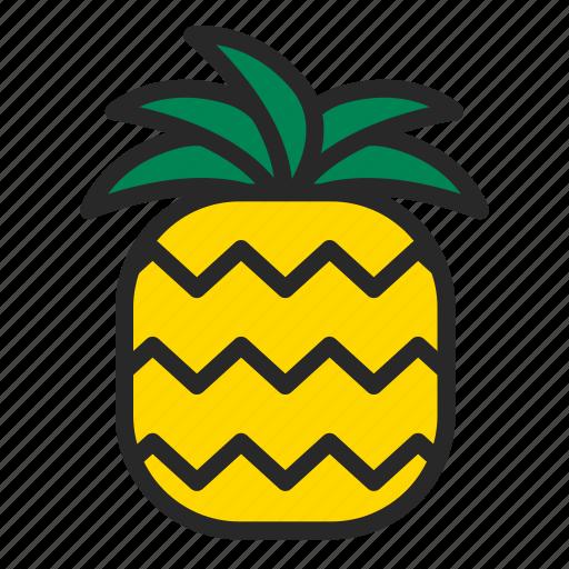 beach, food, fruit, pineapple, summer icon