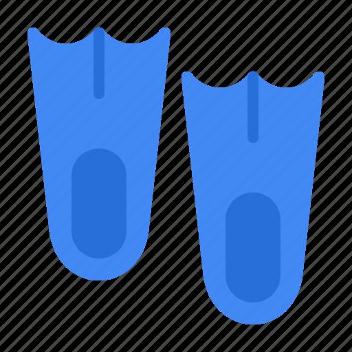 dive, diving, fins, flipper icon