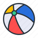 ball, beach, volley icon