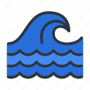 ocean, sea, wave icon