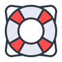 life, safety, tube icon