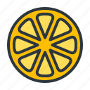 fruit, lemon, orange icon