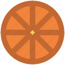 food, fruit, lemon, lemon slice, orange, orange slice icon