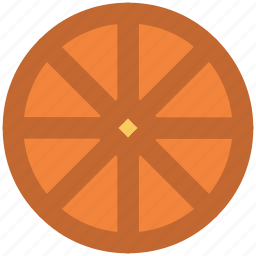 food, fruit, lemon, lemon slice, orange, orange slice icon