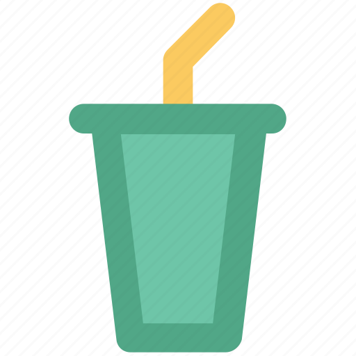 cold coffee, disposable cup, juice cup, paper cup, smoothie cup, straw cup icon