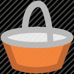 basket, bucket, food basket, hotel basket, pail, shopping basket icon