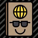 holiday, passport, summer, tourist, travel icon