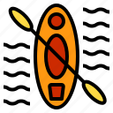 beach, holiday, kayak, summer, travel icon