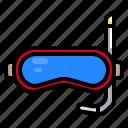 diving, pool, scuba, snorkel, swimming icon