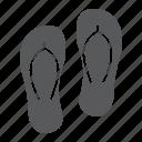 beach, flip, flop, flops, footwear, sea, summer icon