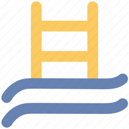 pool ladders, pool stairs, pool steps, sea ladder, swimming ladder, swimming pool icon
