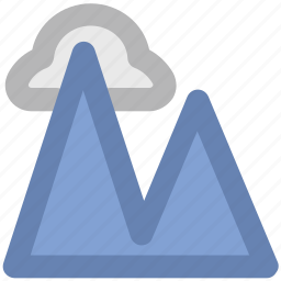 clouds, hill, hill station, landscape, mountains, nature view, scenery icon