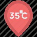 celsius temperature, degree, online temperature, temperature scale, weather app icon