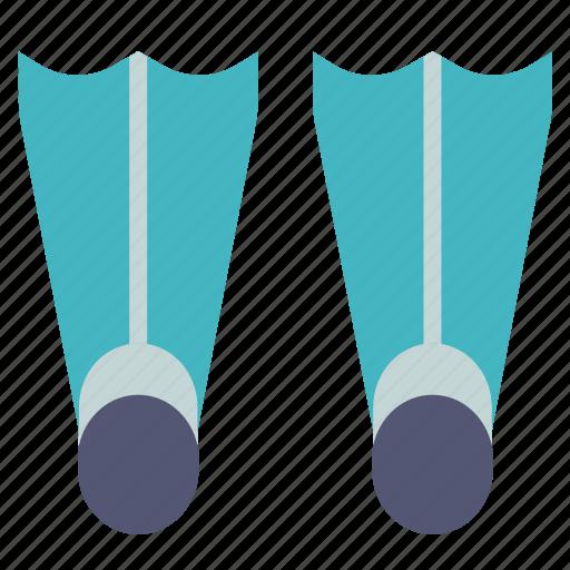 diving, flippers, scuba, sea, swim, swimming, water icon