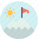 landscape, mountains, scenery, snow, summer, tourism, vacation icon
