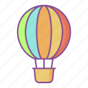 airballoon, fly, airplane, summer