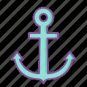 anchor, ship, boat, travel