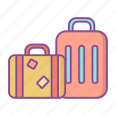 suitcase, briefcase, bag, travel