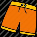 beach, pants, trousers, underwear