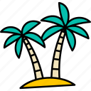 coconut, palmtree, palm, hawaii, island