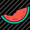 watermelon, fruit, food, juicy, dessert