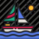 boat, sea, transportation, landscape