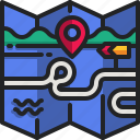 map, location, pin, pointer, route