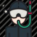 snorkeling, diving, mask, scuba, dive, underwater